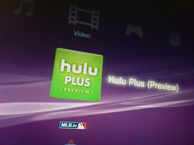 Hulu's App for the PS3